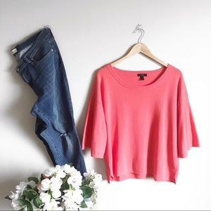 J Crew Coral Pink Sweater Top Medium